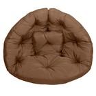 Кресло-футон, размер 200х100х10 см, коричневый