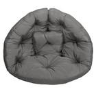 Кресло-футон, размер 200х100х10 см, серый