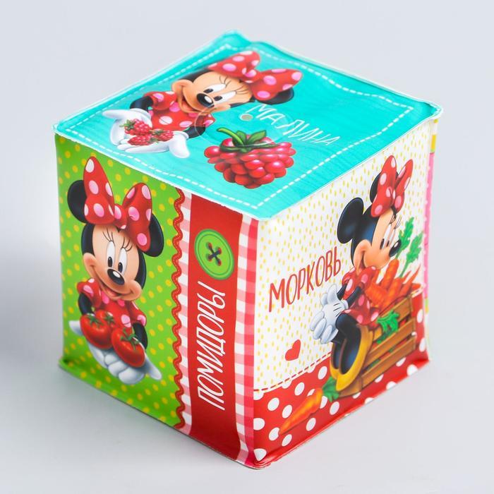 Мягкие кубики Овощи и фрукты, со свистулькой, Минни Маус р-р. 77см, для купания