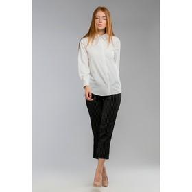 Костюм женский (брюки, рубашка), цвет чёрный, размер 42 Ош