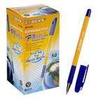 Ручка шариковая Beifa АА 128А, резиновый упор, узел 0.7мм, чернила синие