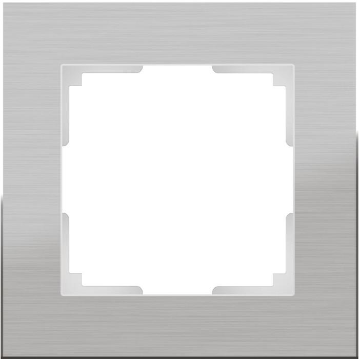 Рамка на 1 пост WL11-Frame-01, цвет алюминий
