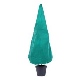 Чехол для растений, конус на завязках, 250 × 160 см, спанбонд с УФ-стабилизатором, плотность 60 г/м², зелёный Ош