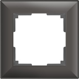 Рамка на 1 пост  WL14-Frame-01, цвет серо-коричневый