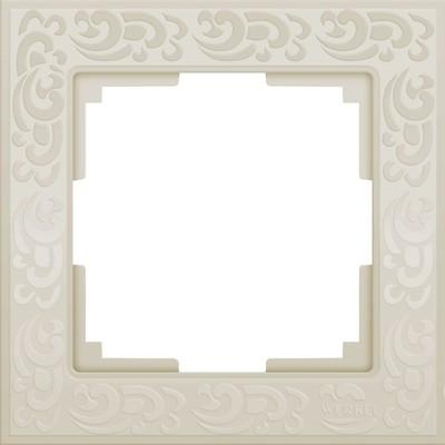 Рамка на 1 пост  WL05-Frame-01-ivory, цвет слоновая кость
