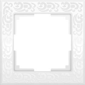 Рамка на 1 пост  WL05-Frame-01-white, цвет белый Ош