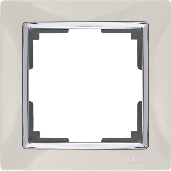 Рамка на 1 пост WL03-Frame-01-ivory, цвет слоновая кость