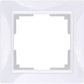 Рамка на 1 пост  WL03-Frame-01, цвет белый
