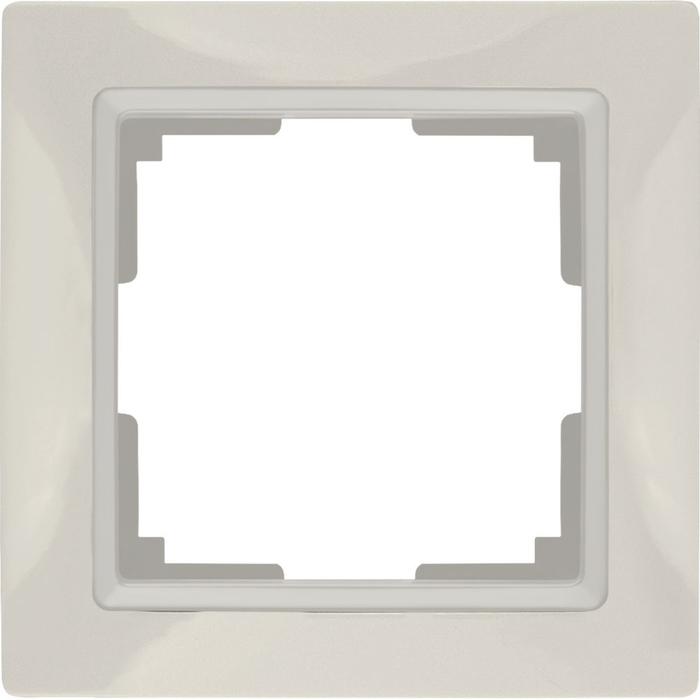 Рамка на 1 пост WL03-Frame-01, цвет слоновая кость