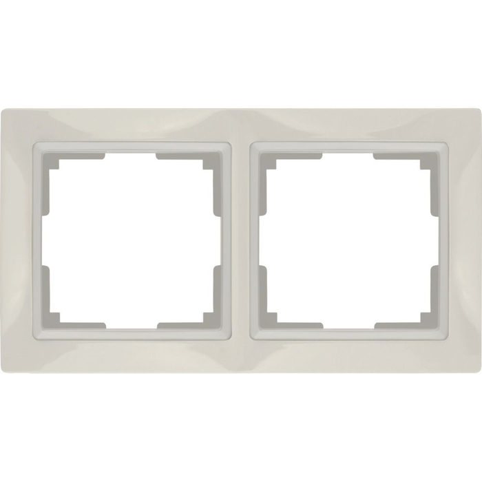 Рамка на 2 поста WL03-Frame-02, цвет слоновая кость