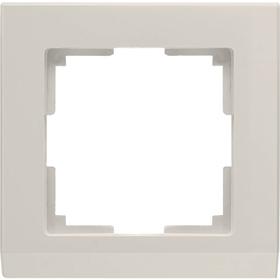 Рамка на 1 пост  WL04-Frame-01-ivory, цвет слоновая кость Ош