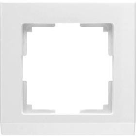 Рамка на 1 пост  WL04-Frame-01-white, цвет белый Ош