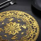 Салфетка ажурная «Лучи», 30?30 см, цвет золото
