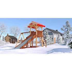 Детский спортивно-игровой комплекс уличный «Савушка 4 сезона - 2», 450 × 430 × 340 см Ош