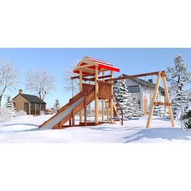 Детский спортивно-игровой комплекс уличный «Савушка 4 сезона - 3», 510 × 450 × 340 см Ош