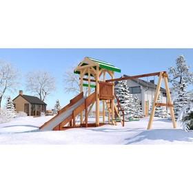 Детский спортивно-игровой комплекс уличный «Савушка 4 сезона - 4», 530 × 450 × 340 см Ош