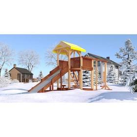 Детский спортивно-игровой комплекс уличный «Савушка 4 сезона - 5», 350 × 530 × 340 см Ош