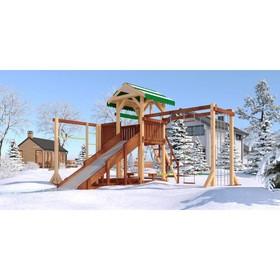 Детский спортивно-игровой комплекс уличный «Савушка 4 сезона - 6», 530 × 430 × 340 см Ош
