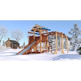Детский спортивно-игровой комплекс уличный «Савушка 4 сезона - 7», 530 × 640 × 340 см Ош