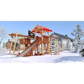 Детский спортивно-игровой комплекс уличный «Савушка 4 сезона - 8», 550 × 540 × 340 см Ош
