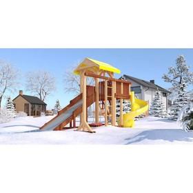 Детский спортивно-игровой комплекс уличный «Савушка 4 сезона - 9», 380 × 440 × 340 см Ош