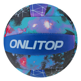 Мяч волейбольный ONLITOP «Космос», размер 5, 18 панелей, машинная сшивка, 260 г Ош