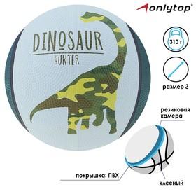 Мяч баскетбольный DINOZAUR, размер 3, 280 г Ош