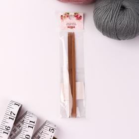 Спицы для вязания, чулочные, 15 см, d = 2,5 мм, 5 шт Ош