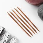Спицы для вязания, чулочные, 15 см, d = 4,5 мм, 5 шт - Фото 2