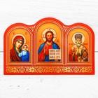 """Наклейка эпоксидная """"Икона Триптих"""" в красном цвете 5 х 8 см"""