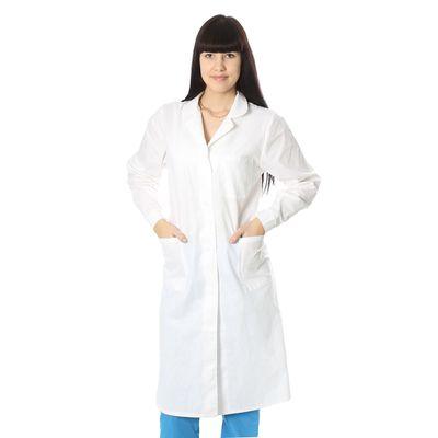 Халат медицинский женский, бязь, размер 60-62, рост 170-176