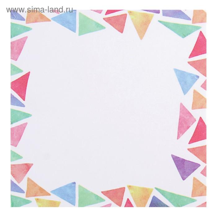 Блок бумаги для записей 8.5 х 8.5 см, 200 листов, «Кристалл», проклеенный, 70 г/м2