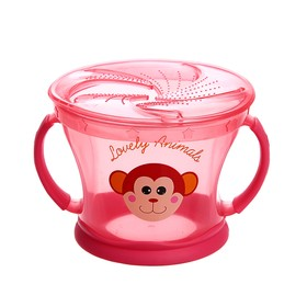 Контейнер для хранения питания детский, непросыпайка, цвет розовый