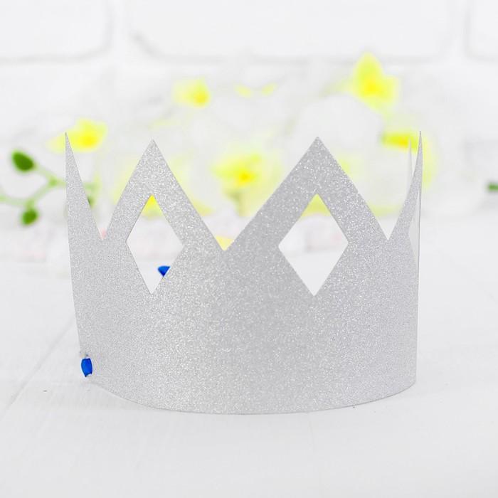 Корона Узор, цвет серебряный