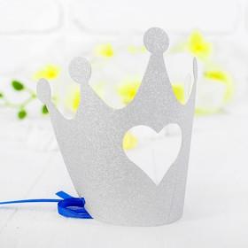 Корона «Королева», цвет серебряный Ош