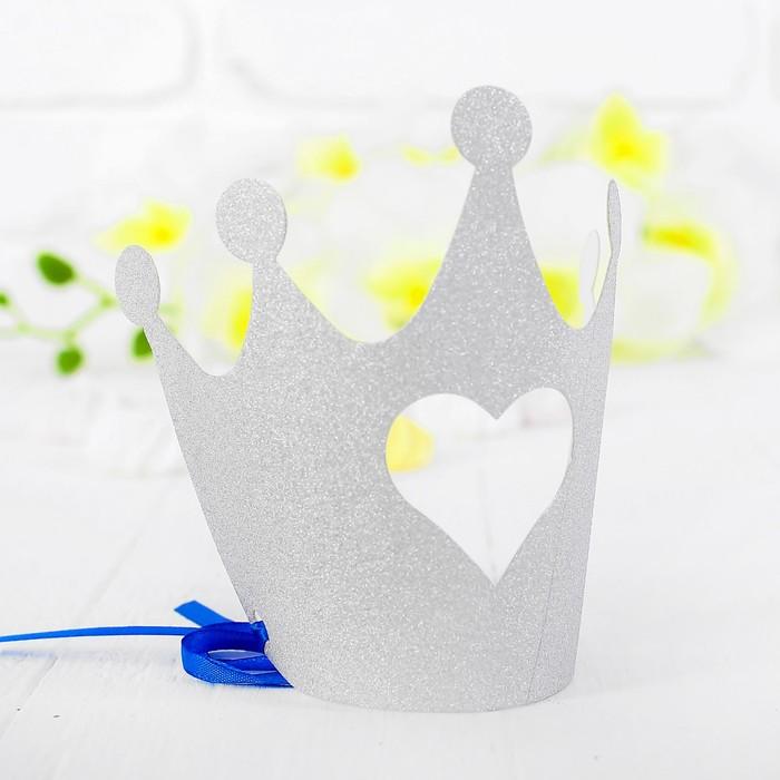 Корона Королева, цвет серебряный