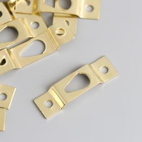 Подвес металл для картин, фоторамок золото 3,9х1,1 см