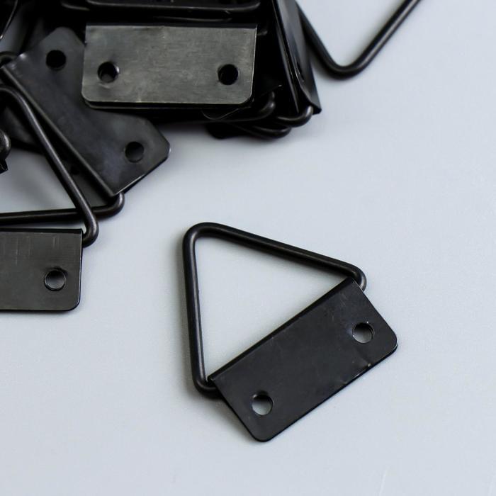 Подвес металл для картин, фоторамок чёрный 3,2х2,4 см