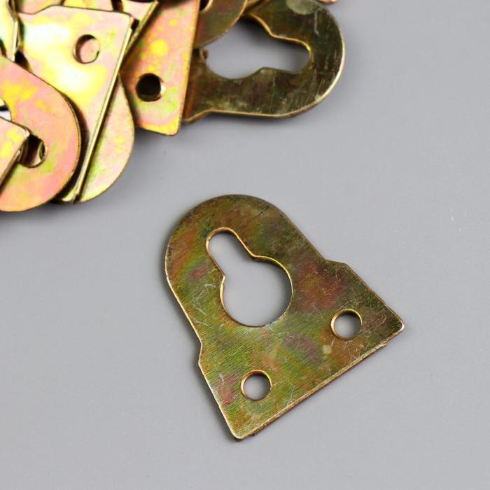 Подвес металл для картин, фоторамок золото 3,2х3,1 см