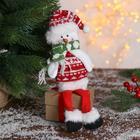 """Мягкая игрушка """"Снеговик в свитере"""" 8*30 см"""