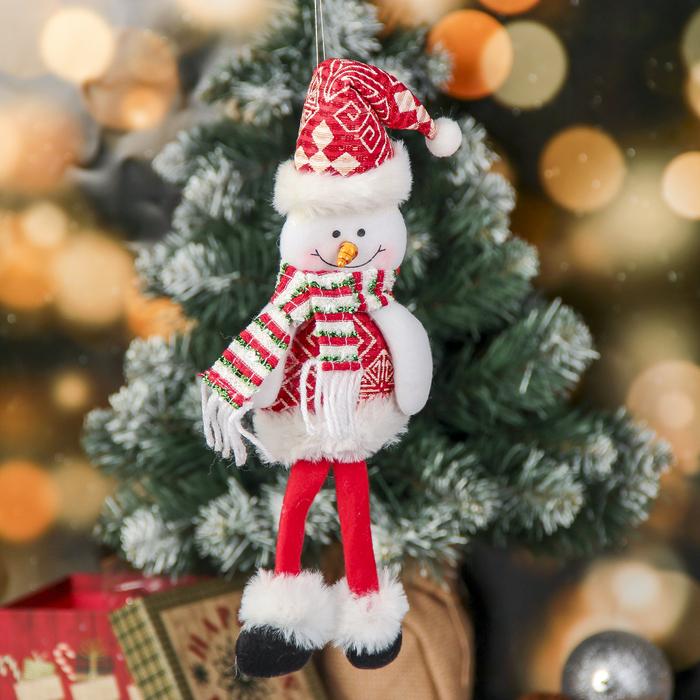 Мягкая игрушка Снеговик с узорами 830 см