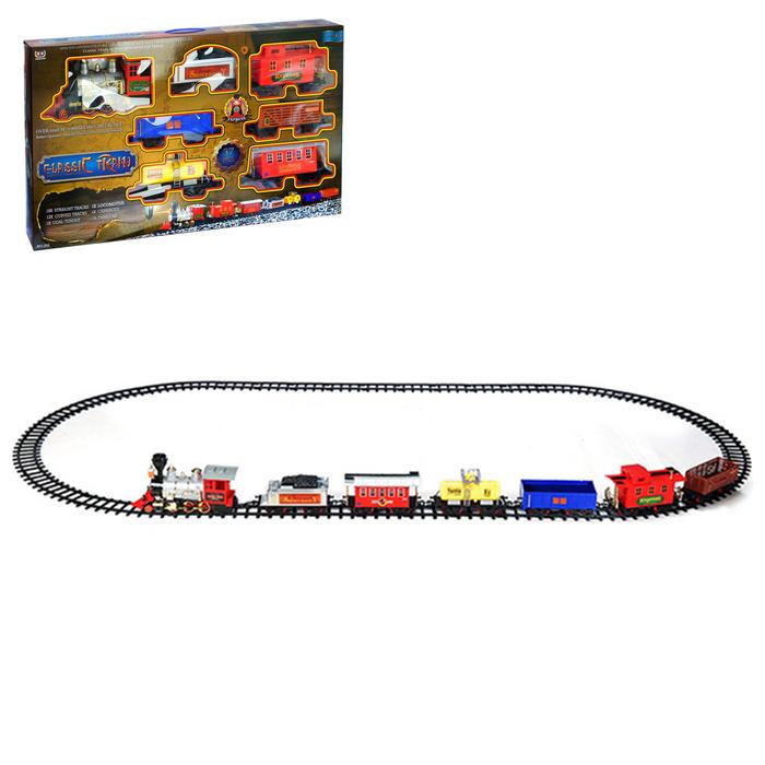 Железная дорога «Классический поезд», работает от батареек, свет и звук