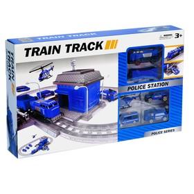 Железная дорога «Полицейский участок», работает от батареек