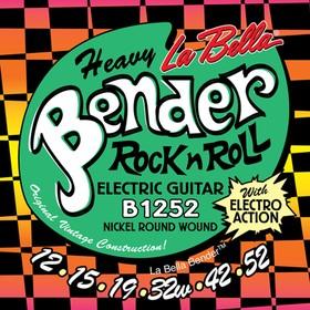 Струны для электрогитары La Bella B1252 The Bender Heavy никелированные, 12-52