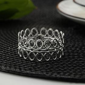 Кольцо для салфеток «Венок», d=4 см, цвет серебро Ош