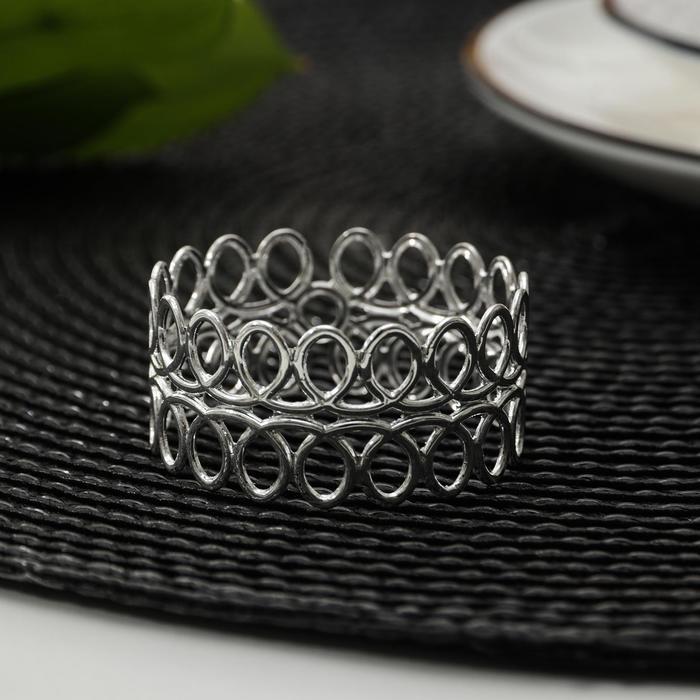Кольцо для салфеток «Венок», d=4 см, цвет серебро