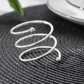 Кольцо для салфеток «Спираль», d=4,5 см, цвет серебро Ош