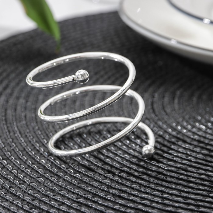 Кольцо для салфеток «Спираль», d=4,5 см, цвет серебро