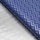 """Плёнка с металлизированная """"Зигзаги"""", цвет фиолетовый, 50 х 70 см"""