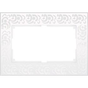 Рамка для двойной розетки  WL05-Frame-01-DBL-white, цвет белый